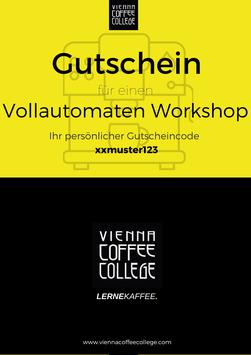 Geschenkgutschein - Vollautomaten Workshop