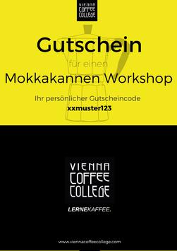 Geschenkgutschein - Mokkakannen Workshop