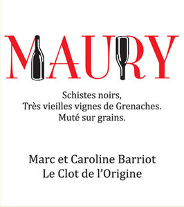2017 AOC MAURY 50cl (Vin Doux Naturel)