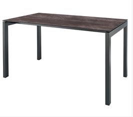 SCHAFFNER Tisch Luzern - 90 x 160 cm Platte Stromboli dunkel - Gestell anthrazit