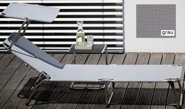 JAN KURTZ Sonnenliege Amigo 40 plus mit Dach - silbergrau