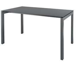 SCHAFFNER Tisch Luzern - 100 x 220 cm - graphit