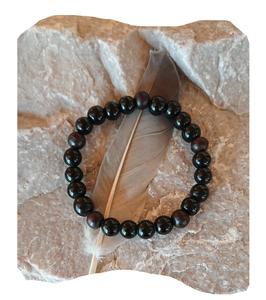 Bracelet onyx et bois