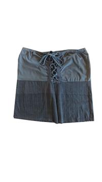 Jupe double gris courte