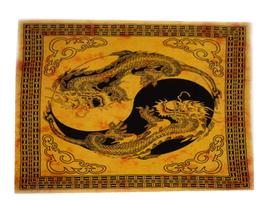 Tenture Dragons jaune taille XL