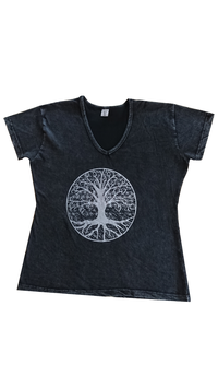 T-shirt arbre Col en V