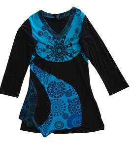 Tunique XL noir et bleu