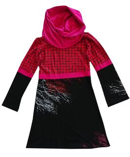 Tunique M noir, rouge et rose