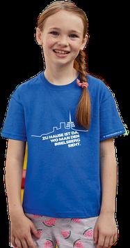 """blaues Kinder Shirt mit weißem Aufdruck """"Inselsberg"""""""