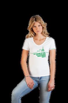"""weißes Damenshirt mit grünem Aufdruck """"Inselsberg"""""""