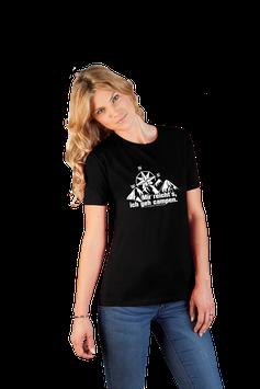 "Damenshirt schwarz ""Mir reicht's"""
