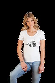 """weißes Damenshirt schwarzer Aufdruck """"Inselsberg"""""""