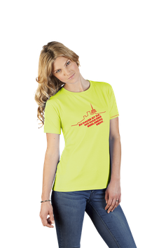 """Damenshirt lime mit rotem Aufdruck """"Inselsberg"""""""