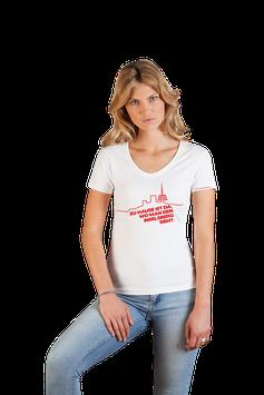 """weißes Damenshirt mit rotem Aufdruck """"Inselsberg"""""""