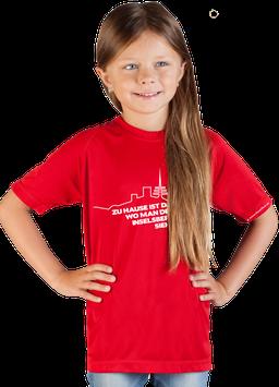 """rotes Kinder Shirt mit weißem Aufdruck """"Inselsberg"""""""