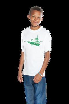 """weißes Kinder Shirt mit grünem Aufdruck """"Inselsberg"""""""
