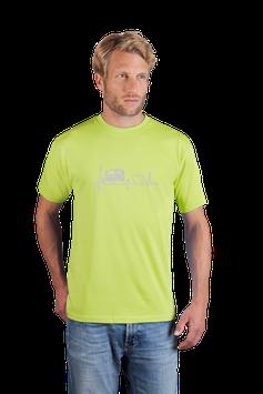 """Herrenshirt grün mit  Aufdruck """"Anhänger"""""""