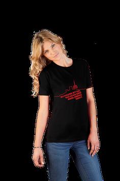 """schwarzes Damenshirt mit rotem Aufdruck """"Inselsberg"""""""