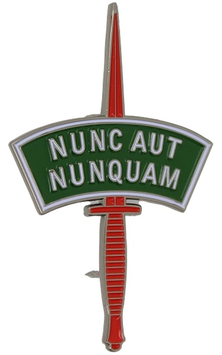 Korps Commandotroepen Nunc Aut Nunquam dolk embleem
