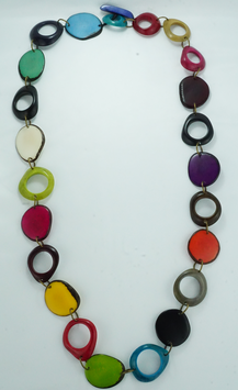 "Tagua-Kette ""Ninfa"" bunt/ Tagua Necklace ""Ninfa"" coloured"