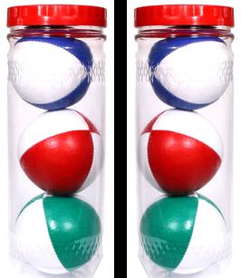 Aktion: Doppelpack Einsteiger Jonglierballset in der Röhre