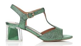 Luciano Barachini Sandalen  Verde Grün mit 4 cm Absatz
