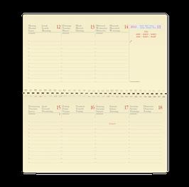 Planital 8,8x17cm Kalender-Einlage - Quo Vadis Kalender 2021