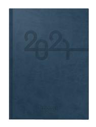 Modell 798 14x20,6cm Kunstleder-Einband Blau - Brunnen Buchkalender 2022