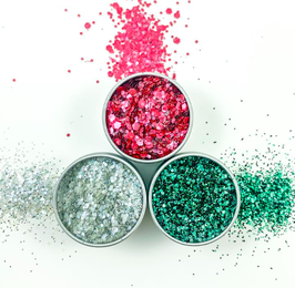 EcoStardust Glam Gore Biodegradable Trio-Glitter, Balm, Brush Set