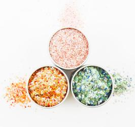 EcoStardust Pearl Biodegradable Trio-Glitter, Balm, Brush Set