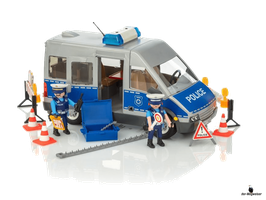 Playmobil City Action Polizeibus mit Strassensperre (9236)
