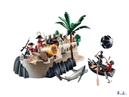Playmobil Pirates Rotrockbastion (70413)