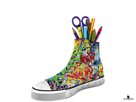 3D-Puzzle Sneaker Graffiti Style (125357)