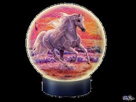 3D Puzzle Nachtlicht Puzzleball Pferde am Strand (11843)