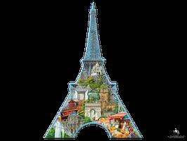 Silhouette Puzzle Eiffelturm Paris (16152)