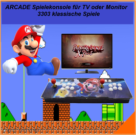 Arcade Spielekonsole, 3303 Spiele