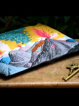 Petite pochette en lin et coton