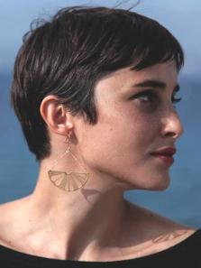 Boucles d'oreilles Cédrat