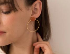 Grandes boucles d'oreilles rondes