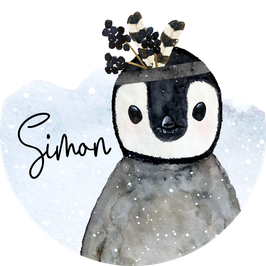 Pinguin Aufkleber mit Name, Namensaufkleber, Aufkleber Junge