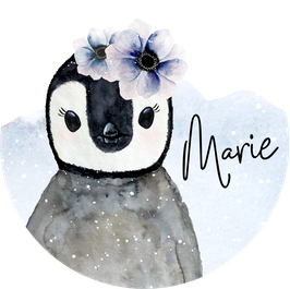 Pinguin Aufkleber mit Name, Namensaufkleber, Aufkleber Mädchen