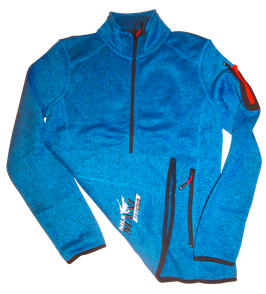Strick-Fleece-Jacke blau, Damen