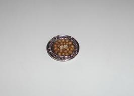 EF084 Silberteller 2,5 cm mit Nüssen