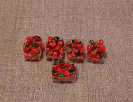 EF053 Erdbeeren im Plastikbecher 2x1,5cm MODERN