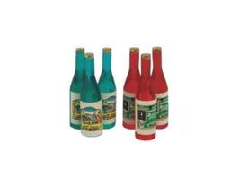 EF059 GK Flaschen 10x33mm 6 STÜCK grün und rot