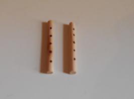 EF028 GK Flöte 2 STÜCK 4cm lang gemalte Löcher