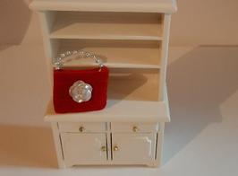 """EF082 Weihnachtliche Tasche """"Rose"""" zur Dekoration 4cmB"""