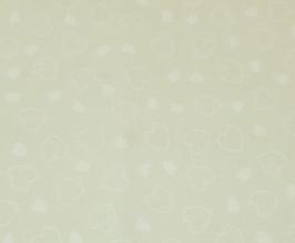 EF096 Stoff lindgrün mit Herzen 37x50cm