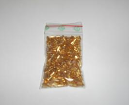 EF027 Stiftperlen aus Glas 4mm lang 15g GOLD