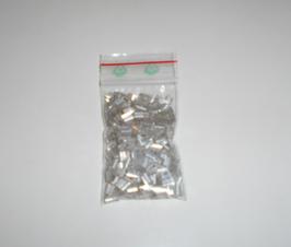 EF027 Stiftperlen aus Glas 5mm lang 15g SILBER
